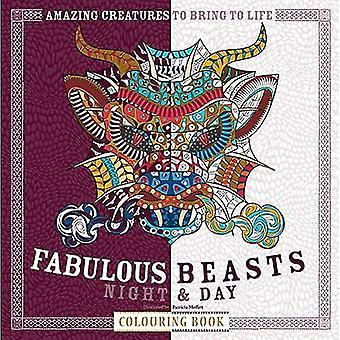 Fabelhafte Tiere Nacht & Tag Färbung Buch