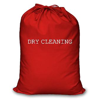 Red Laundry Bag Dry Cleaning