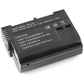 Fully Decoded Battery for Nikon EN-EL15 ENEL15 D600 D800 D800E D7000 1 V1 1V1 MB-D12 MB-D11 GRIP