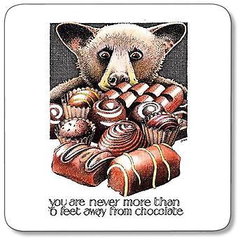 Tilpasset verk - Simon Drew enkelt Coaster - sjokolade