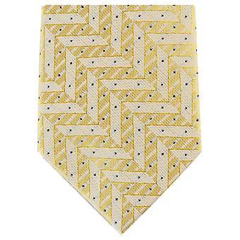Knightsbridge halsdukar Zig Zag smal Polyester Tie - ljus guld