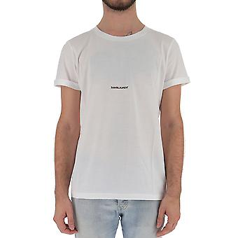 Saint Laurent 464572yb2dq9000 Men's White Cotton T-shirt