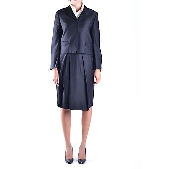 Dries Van Noten Ezbc007013 Women's Black Wool Dress