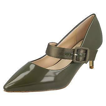 Dames plek op dikke gesp riem Hof schoenen F90059