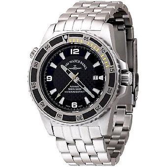 Zeno-watch reloj de buzo profesional amarillo automático 6478-s1-9 M