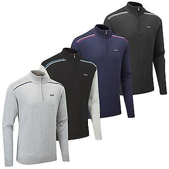 Stuburt Mens Hydro-Sport Half Zip Durbale Lightweight Golf Sweater
