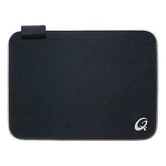 QPad 370 x 270 x 3 mm LED ライトを当てられたゲームマウスパッド ブラック (FLX100)