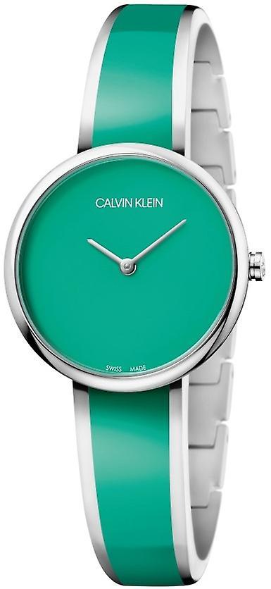 Calvin Klein Seduce Green Dial Green Stainless Steel Bracelet Ladies Watch K4E2N11L 30mm