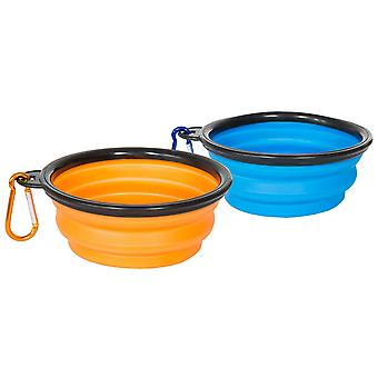 Trespass Sippy kokoontaitettava Dog Bowl Set