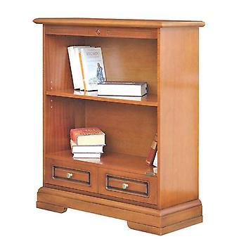 Niedrige klassische Bücherei mit Schublade
