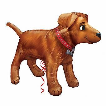 Amscan Supershape собака золотой шар