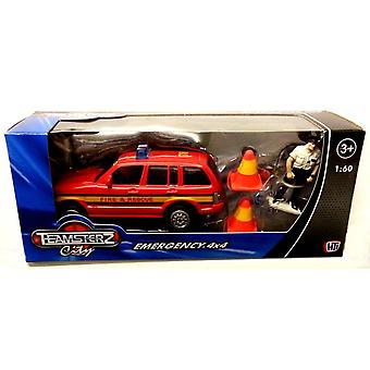 Teamsterz Emergency 4x4 Fire And Rescue (red)