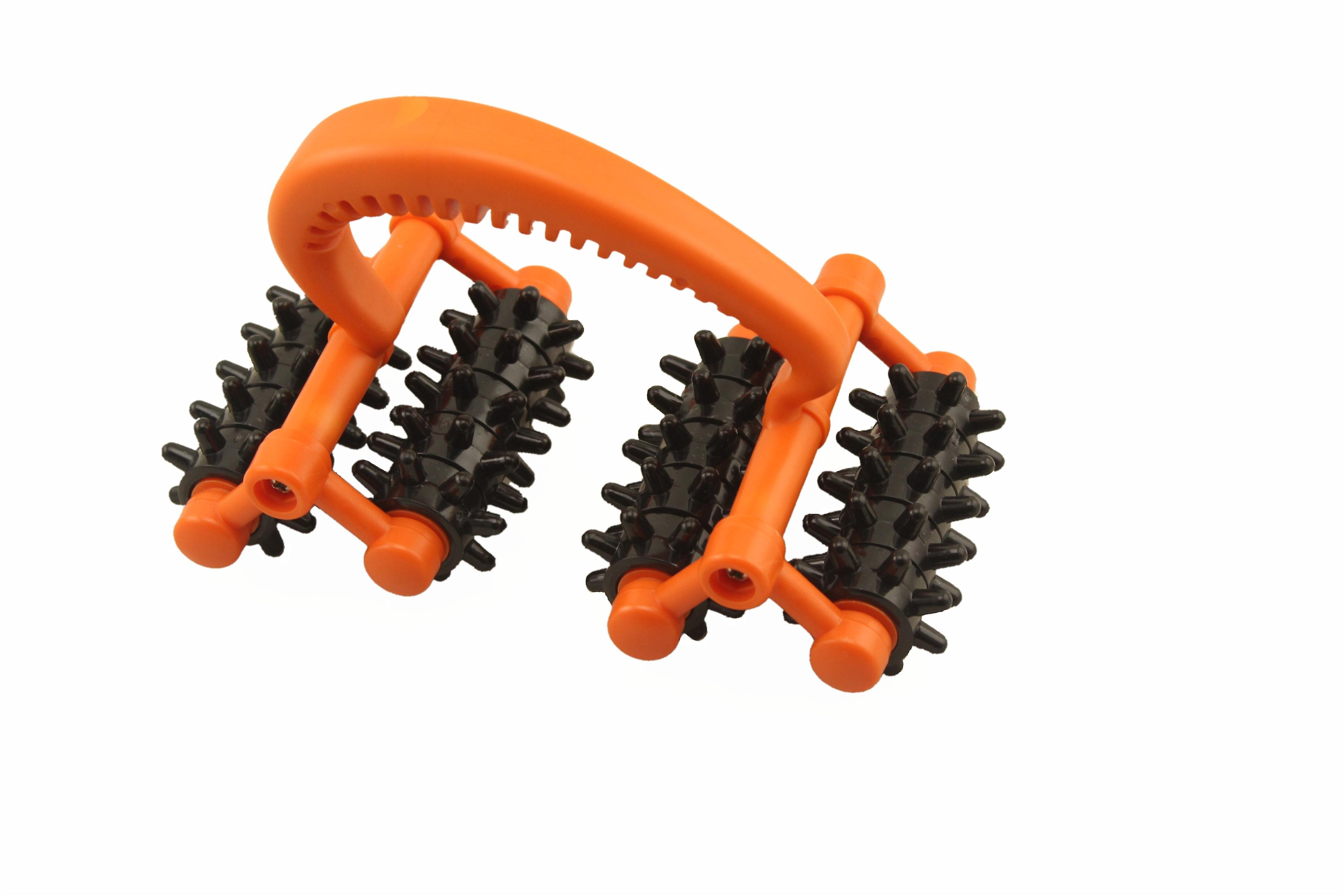 Kabalo Rolling Handheld 16 Wheel Back Body Arms Legs Massager Reflexology - Stress and Pain Relief Roller