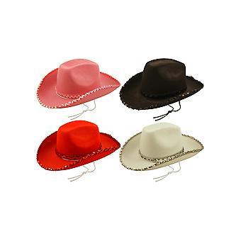 Fieltro vaquero sombrero con adorno de lentejuelas