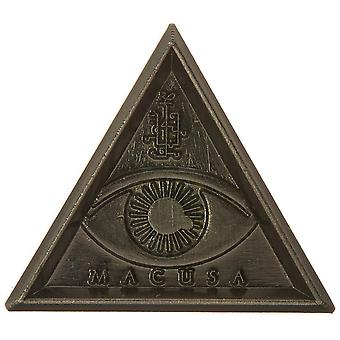 Pin - Fantastic Beast - Macusa Triangle Eye Pewter Lapel Pin New Toys 48194