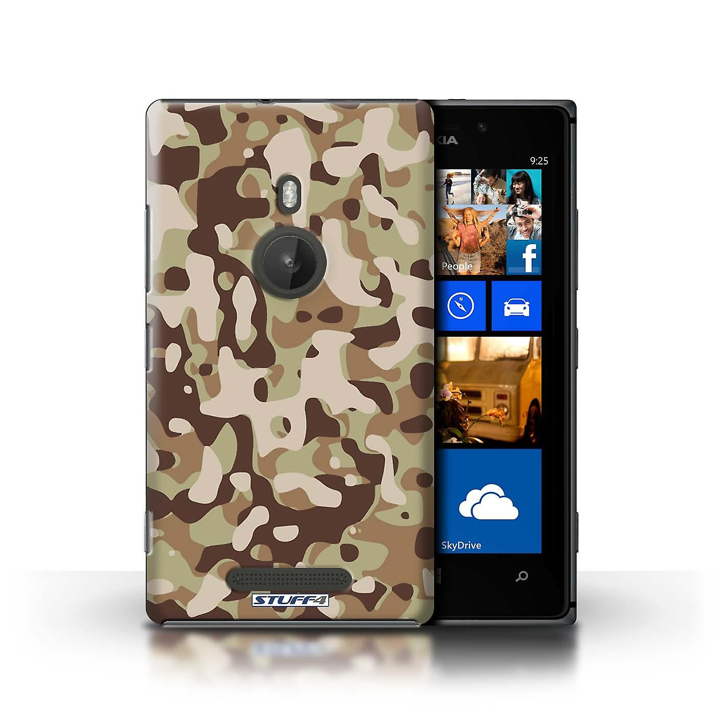 STUFF4 Case/Cover for Nokia Lumia 925/Brown 3/Camouflage Army Navy
