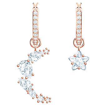 Swarovski Penelope Cruz Moonsun Drop Boucles d'oreilles percées - Blanc - Rose-or Tone Plated