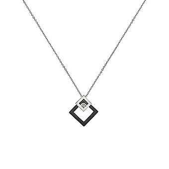 Ceranity-zilveren halskettingen met diamant-vrouw-wit-45 centimeter