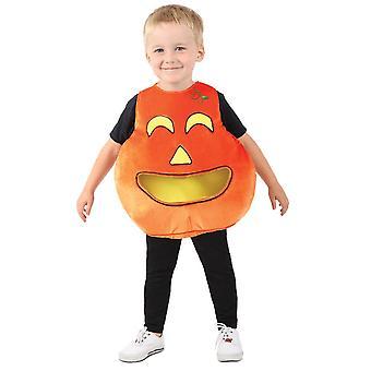 Costume de candycandy de citrouille d'enfant en bas âge