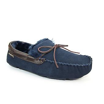 Goodyear jogo Suede Moccasin chinelo