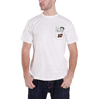 Betty Boop T Shirt In My Pocket new Official Mens White