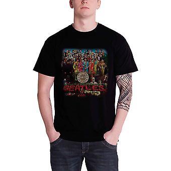 חולצת הביטלס T חולצה קלאסי סמל פלפל לוגו בנד הלהקה החדשה Mens שחור