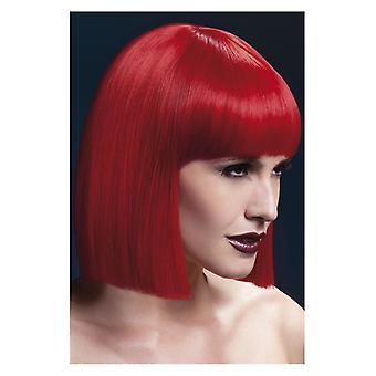 Womens Fieber Lola Wig rote Fancy Dress Zubehör