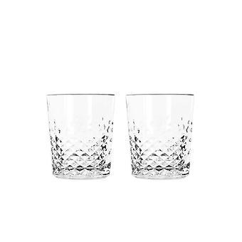 Libbey karaat dubbele ouderwetse glas-set van 2