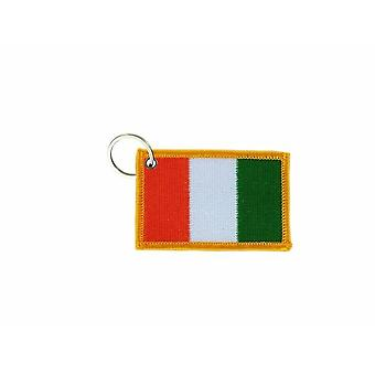 Cle Cles Key Brode Patch Ecusson Abzeichen irische Flagge
