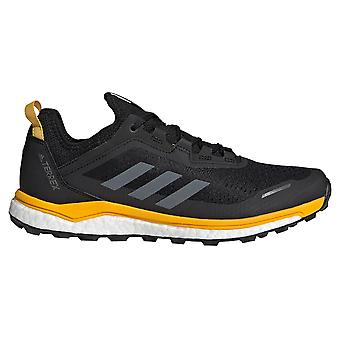 Adidas Terrex agravic Flow Mens Trail running trainer sapato preto/ouro