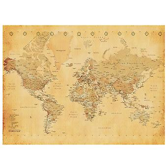 Murale vintage World Map Wall