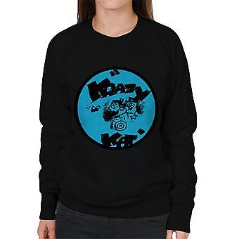 Krazy Kat Blue Logo Women's Sweatshirt
