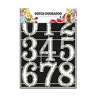 Dutch Doobadoo Mask Stencil - A4 Numbers 2 #715805