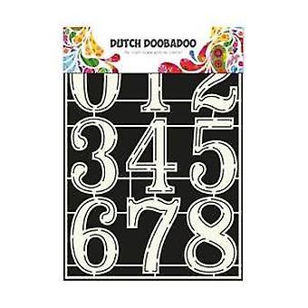 Hollandske Doobadoo maske Stencil - A4 numre 2 #715805