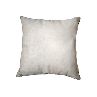 """18"""" x 18"""" x 5"""" Off White Cowhide  Pillow"""