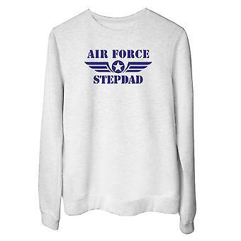 Felpa girocollo donna bianco wtc0445 air force stepdad