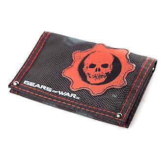 Gears of War logo kolmiosainen kangas lompakko Unisex Musta/punainen (FW130191GOW)