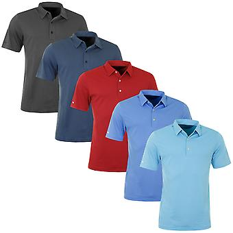 Greg Norman Mens Textured Lightweight Short Sleeve Golf Polo Shirt Top
