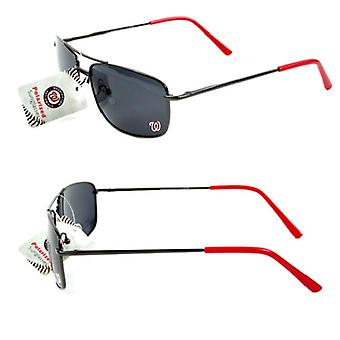 Gafas de sol de marco de metal polarizado MLB de Washington Nationals