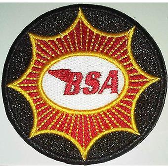 BSA gul/rød stjerne sy-på broderet Patch