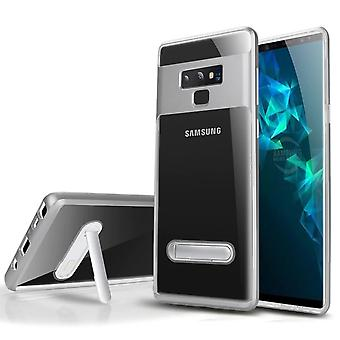 Case Kickstand for Samsung S10 Transparent Silver