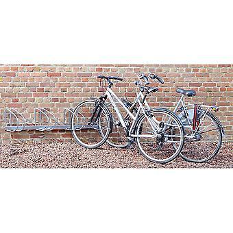 Mottez - Fietsenrek muurbevestiging (4 fietsen) 45°