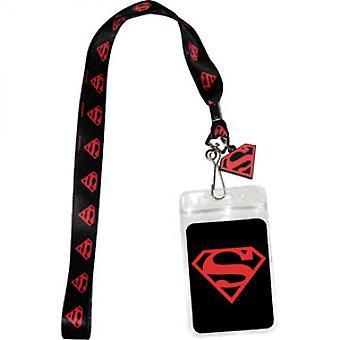 Superman musta ja punainen kaula nauha
