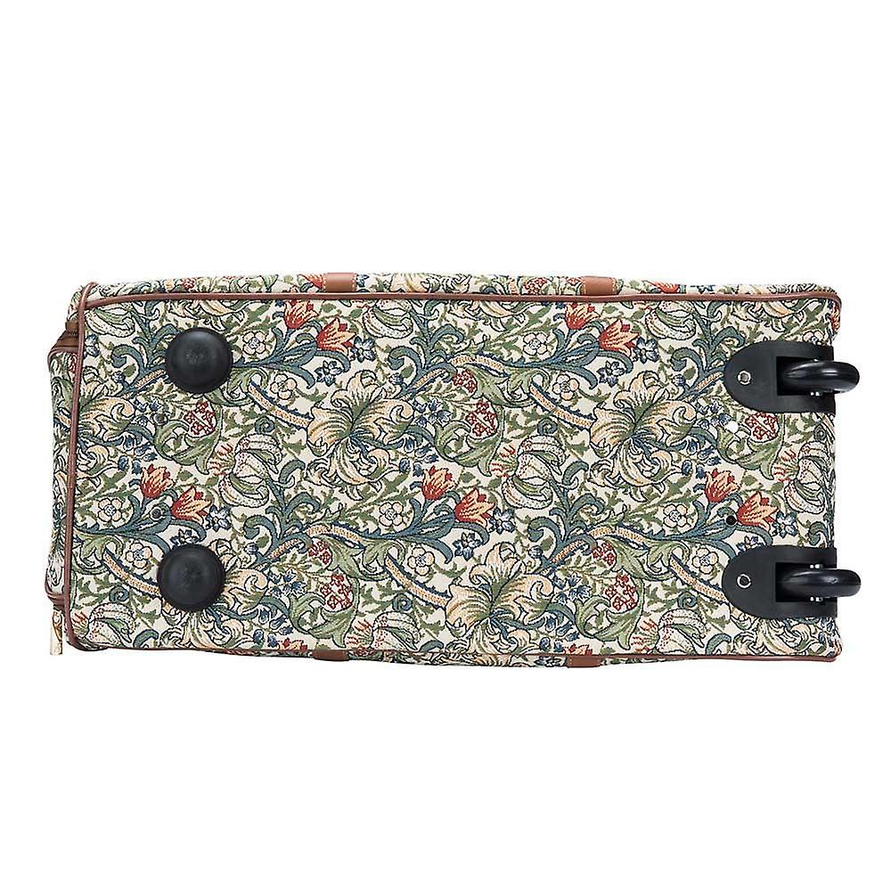 William morris - golden lily travel pull holdall by signare tapestry / pull-glily