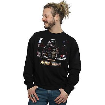 Star Wars Men-apos;s The Mandalorian Child On Board Sweatshirt Star Wars Men-apos;s The Mandalorian Child On Board Sweatshirt Star Wars Men