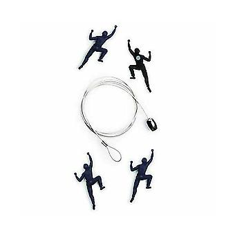 Mountain Climber Cable Photo or Card Holder (4 magnets)