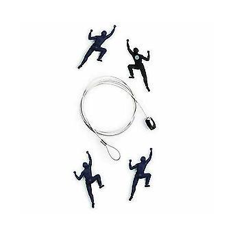 Fjellet klatrer kabel bilde eller kortholderen (4 magneter)