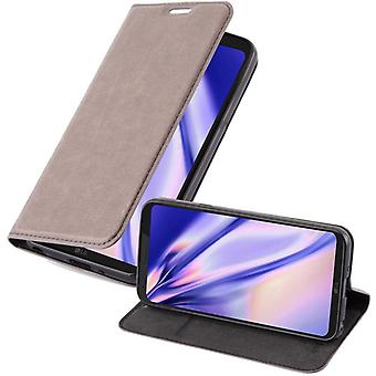 Futerał Cadorabo do obudowy LG Q6 - etui na telefon komórkowy z magnetycznym zapięciem, funkcją stojaka i komorą na kartę - Obudowa ochronna Case Case Book Folding Style