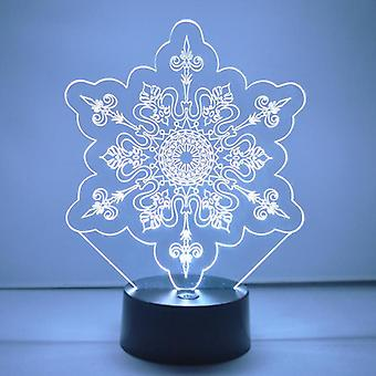 Winter Snowflake Colour Changing LED Acrylic Light - Crystal Points