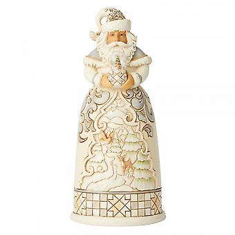 Jim Shore Heartwood Creek Santa With Mini Globe Figurine